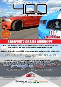 II Edição do Garagem Racing 400 - Acelere seu esportivo em uma pista de avião!