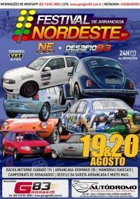 Festival de Arrancadas acontece nos dias 19 e 20 de Agosto no Autódromo Internacional da Paraíba